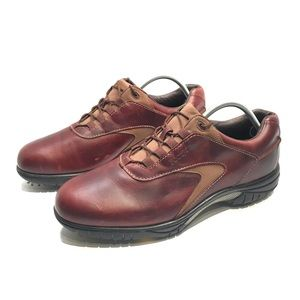 FootJoy FJ Contour Series Brown Leather Golf Shoes